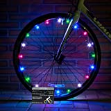 activ lites rainbow LED Bike Wheel Lights -Best Birthday Gift & Christmas Present for Boys & Girls of All Ages - Extra Safe & Fun - Fast Easy Install - Batteries Included - 100%