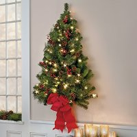 Flat Back Christmas Tree Wall Mounted Half Christmas ...