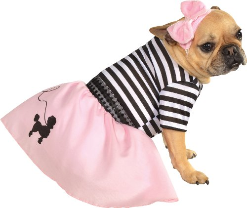 Rubies Costume Halloween Classics Collection Pet Costume, Small, 50s Girl Dress
