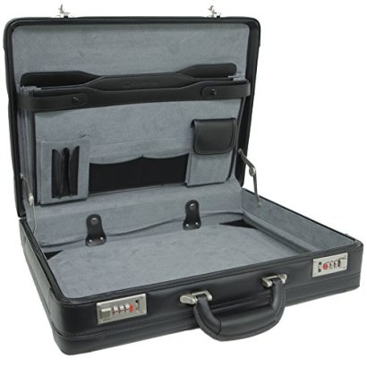 Alpine-Swiss-Expandable-Leather-Attache-Briefcase-Dual-Combination-Locks-1-Year-Warranty