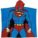 DC Comics Superman Hooded Poncho Pajama One Size Fits Boy 5 To 10