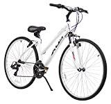 XDS Women's Cross 200 21-Speed Step-Through Hybrid Bicycle, 44cm, White