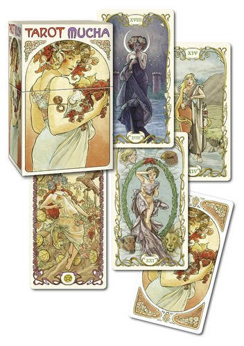 Tarot Mucha: 78 Full colour cards and 16 page guide booklet