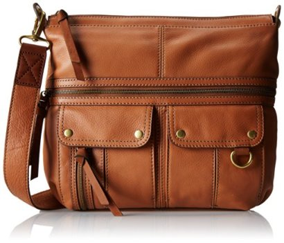 Fossil-Morgan-Top-Zip-Cross-Body-Bag-Saddle-One-Size