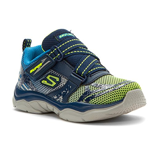 Skechers Infant/Toddler Boys' Neutron Sneaker,Navy/Lime,US 7 M