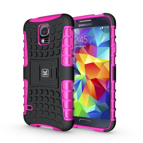 KAYCASE Heavy Duty Cover Case for Samsung Galaxy S5 SV S V Smart Phone (Lifetime Warranty) (Pink)