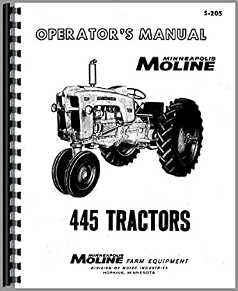Minneapolis Moline 445 Tractor Operators Manual: Amazon
