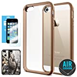 [AIR CUSHION] Spigen Apple iPhone 5S / 5 Case **New Release** ULTRA HYBRID [Café Brown] Bumper Case with Air Cushion Technology Corners + [1 FREE Screen Protector & 2 FREE Design Graphics] for iPhone 5S / 5 - ECO-Friendly Package - Café Brown (SGP10575)