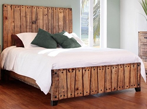 Video Review Rustic Elliot King Bed Real High Quality