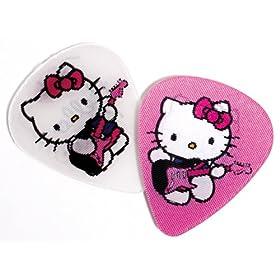 fender motion guitar picks hello kitty pink white