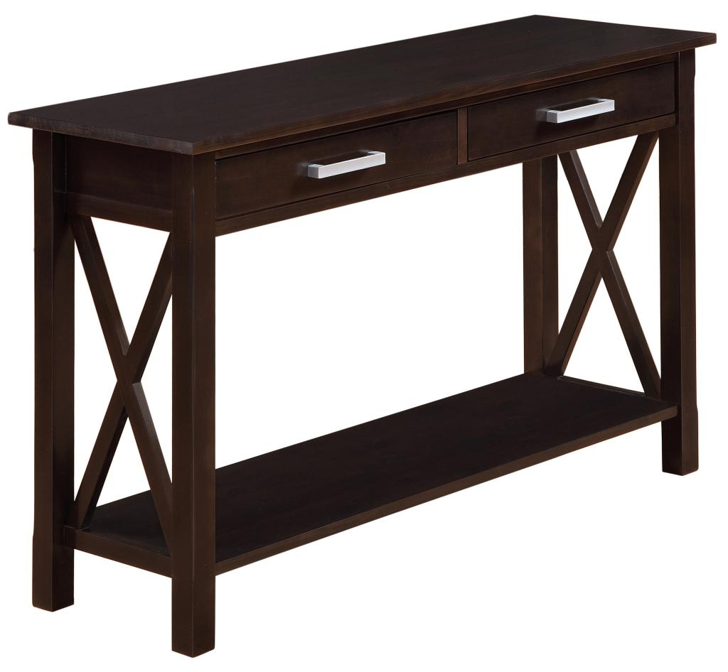 dark sofa tables leather cleaner wipes amazon simpli home kitchener console table