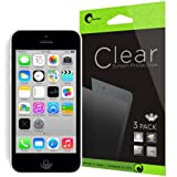i-Blason 3 Pack for Apple iPhone 5C / iPhone 5S / iPhone 5 Screen Protectors Premium HD Clear Version Life Time Warranty (AT&T, Verizon, Sprint, T-mobile, All Carriers)