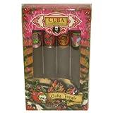 Cuba Jungle Collection 4-Piece Perfume Variety Gift Set - Includes Cuba Snake, Cuba Tiger, Cuba Zebra, and Cuba Heartbreaker - 1.17 Oz Perfume (EDP) Each