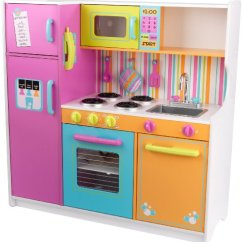 Kids Kitchen Toys Commercial Hood Cleaning Services Kidkraft Deluxe Big N Bright Toy Set Food Pretend Play Kid New