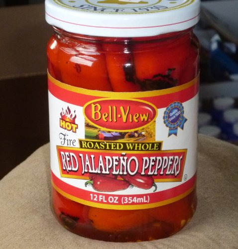 BellView Hot Fire Roasted Whole Red Jalapeno Peppers 3