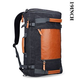 Witzman-Mens-Retro-Canvas-Duffel-Travel-Rucksack-Backpack