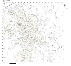 Amazon.com: ZIP Code Wall Map of Anderson, SC ZIP Code Map