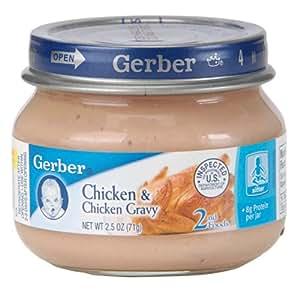 Amazoncom Gerber 2nd Foods Chicken and Chicken Gravy