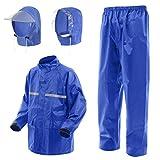 Amagoo (アマグー) お客様の声から生まれたレインアイテム [H2シリーズ] セパレートタイプ 着脱可能なフード2タイプセット 男女兼用 2サイズ 3カラー アップグレードモデル (ブルー [青], SIZE-1)