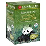Uncle Lee's Tea Organic Whole Leaf Green Tea, 18-Count Box (Pack of 4)