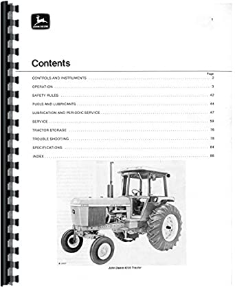 John Deere 4230 Tractor Operators Manual: Amazon.com