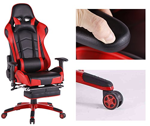 gaming office chairs australia chair for kids top gamer ergonomic high back swivel computer with footrest adjusting headrest and lumbar support racing red black