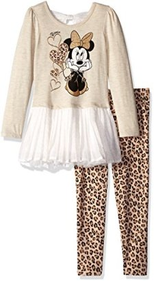 Disney-Girls-Little-Girls-2-Piece-Minnie-Mouse-Chiffon-Tunic-and-Legging-Set-Beige-2T