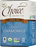 Choice Organic Caffeine Free Chamomile Herbal Tea, 16 Count Box