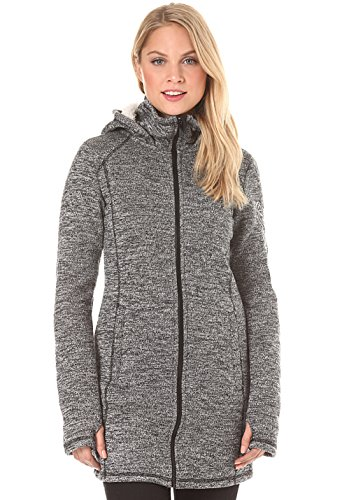 Bench Damen Lange Strick-Fleecejacke Strickjacke