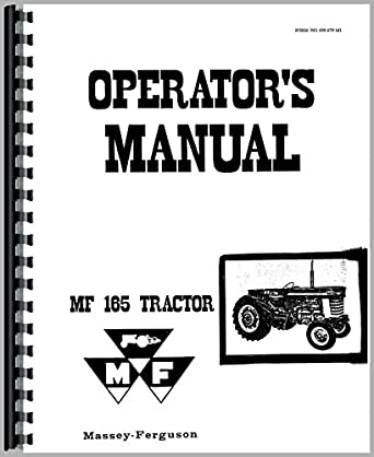 Massey Ferguson 165 Tractor Operators Manual: Amazon.com