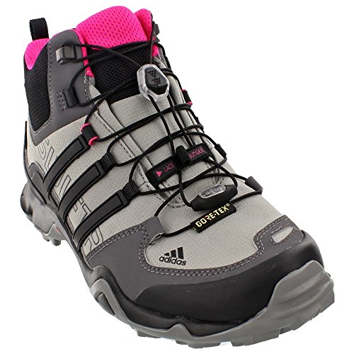 adidas Outdoor Terrex Swift R Mid GTX Hiking Boot - Women's Shock Pink/Granite/Black 8.5