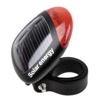 Red LED Solar Energy Bike Bicycle Rear Clamp-on Light ...