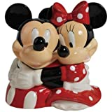 Westland Giftware Ceramic Cookie Jar, Mickey and Minnie Hugging, Multicolor