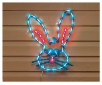 LIGHTED BUNNY FACE EASTER WINDOW DECORATION NEW! Home ...