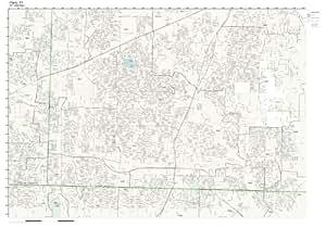 Amazon.com: ZIP Code Wall Map of Plano, TX ZIP Code Map