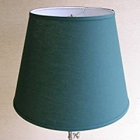 Lamp Shade 11x17x13 Hunter Green Linen Fabric