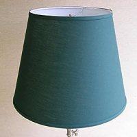Lamp Shade 11x17x13 Hunter Green Linen Fabric - - Amazon.com