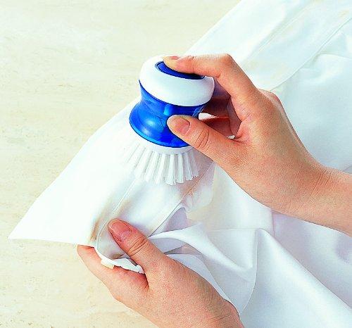 洗剤が入るえりそで洗いブラシ ブルー