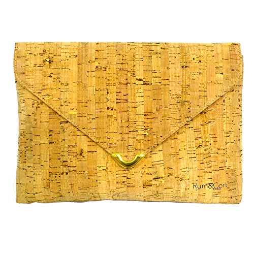 Vegan Purse Cork Clutch Women in Gold by Rum&Cork