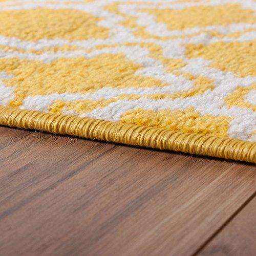 Rug Mat Doormat Well Woven Modern Kids Room Kitchen Calipso Yellow