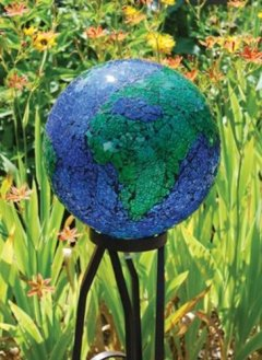 mosaic earth gazing ball