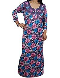 Indiatrendzs Women s Hosiery Purple Nighty Full Sleeve Winter Sleepwear  Night Gown Chest   44 7203146dd