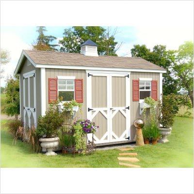 Best Buy 8 X 12 Workshop Aluminum Trim Color Brown Floor Yes Vinyl Siding Color Clay On Sale Outdoor Storage