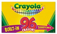 Crayola Crayons with Built-in Sharpener, 96 Count (Pack of ...