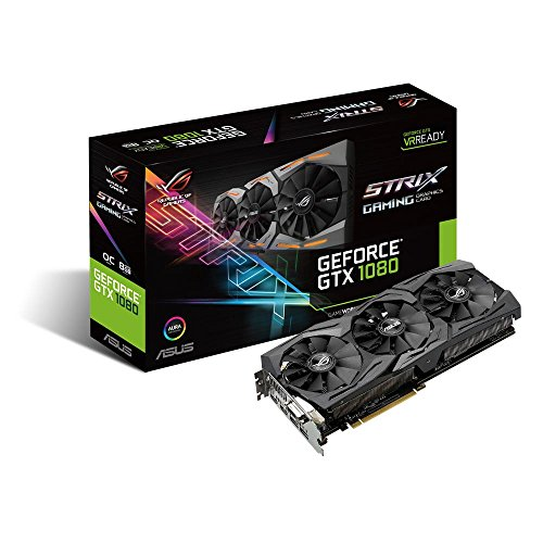 ASUSTek R.O.G. STRIXシリーズ NVIDIA GeForce GTX1080搭載ビデオカード ベースクロック1607MHz STRIX-GTX1080-8G-GAMING