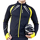 SANTIC Cycling Fleece Thermal Long Jersey Winter Jacket Yellow-Gabriel XXXL