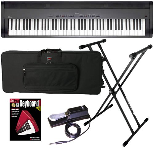 Kawai EP3 Digital Piano BUNDLE w/ Keyboard Carrying Bag, Stand & Pedal