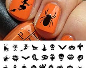 Amazon Com Halloween Nail Decals
