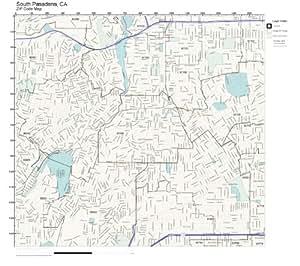 Amazon.com: ZIP Code Wall Map of South Pasadena, CA ZIP