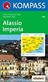 Kompass Karten, Alassio, Imperia: Wander- und Bikekarte. Carta escursioni e bike